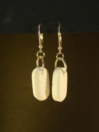 Vicodin-earrings by Becky Stern